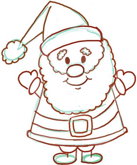 best drawi g of santa clause with chrisamas tree easy for how to draw santa clause for