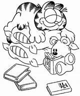 Garfield Coloring Adult Sheets Cartoon Slumbering Sleeping Birthday Printable Lasagna Colorear Valentine Thanksgiving Guardado Desde Halloween Gemerkt sketch template
