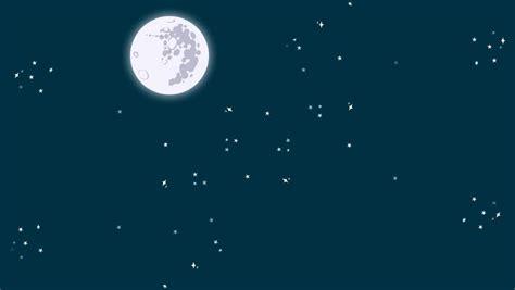 cartoon night full moon shooting stock footage video