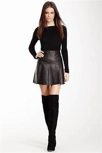 Flare Leather Skirt | Lookbook | Pinterest | Leather skirts Leather and Nordstrom
