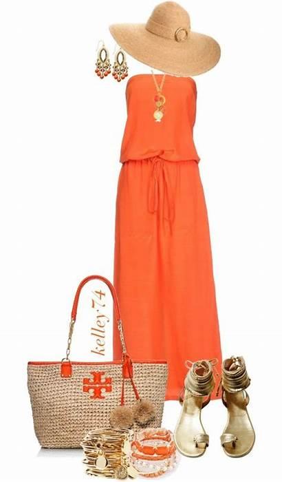 Orange Glad Outfits Polyvore