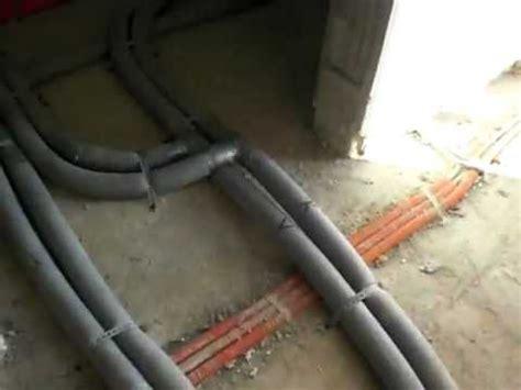passivhaus rohbau nach innenputz sowie heizungs und wasserinstallation erdgeschoss