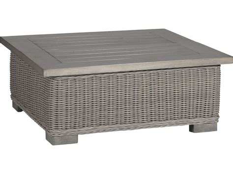 For convenience, we provide a glass on top, so the table is more flat and looks luxurious. Summer Classics Rustic Wicker Oyster 43'' Wide Square Coffee Table | 376424