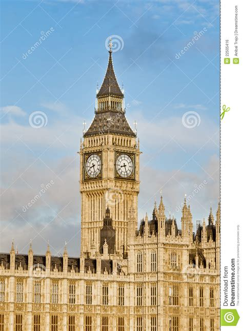 Bid In Italiano Big Ben Tower Clock At Royalty Free Stock