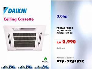 3hp Daikin Ceiling Cassette Air Cond  End 1  22  2018 2 00 Pm