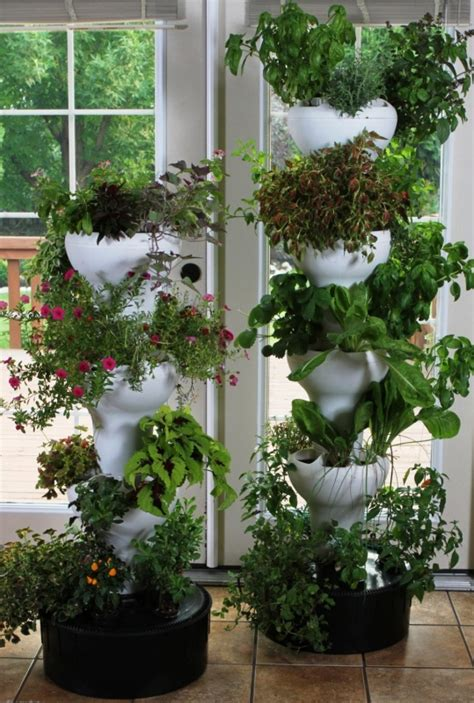 garden indoor outdoor vertical growing tower