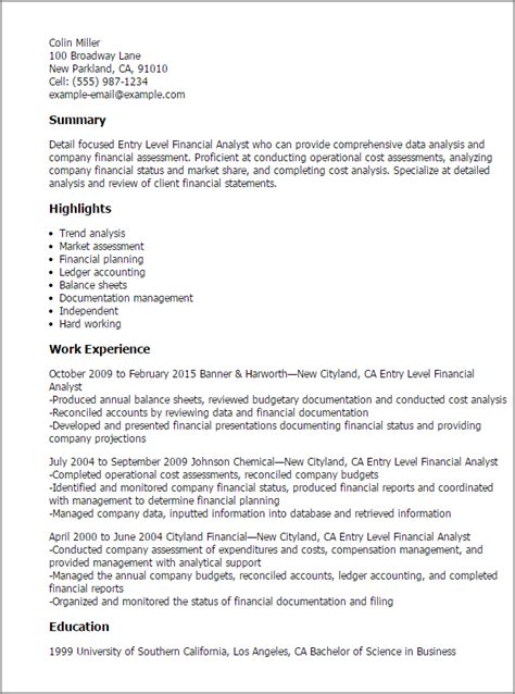 financial advisor program cover letter entry level financial analyst resume template best