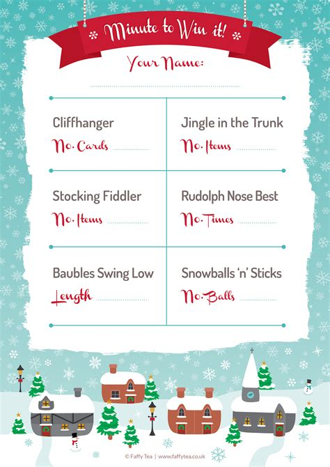 christmas faffy tea blog christmas party printables