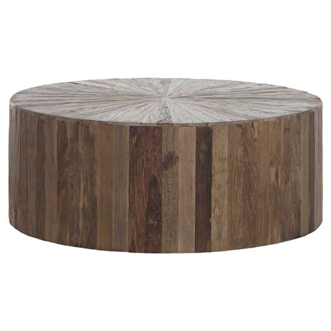 Runde Tische Holz by Cyrano Reclaimed Wood Drum Modern Eco Coffee Table