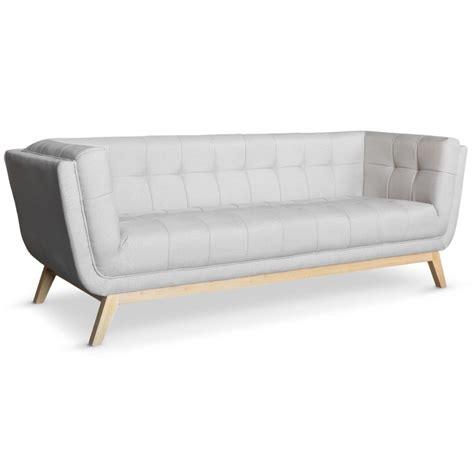 canapé 3 places tissu pas cher canapé scandinave 3 places design tissu gris pas cher