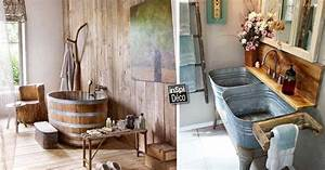 Style De Salle De Bain : d corer la salle de bain style campagne 10 id es ~ Teatrodelosmanantiales.com Idées de Décoration