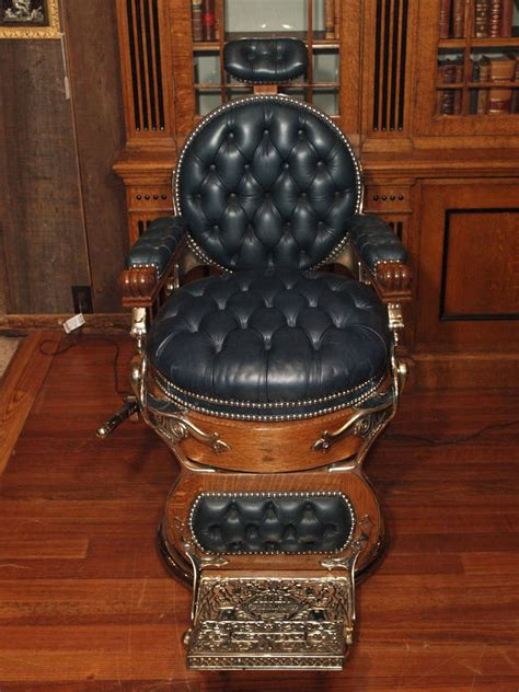 antique american barber s chair circa 1890 at 1stdibs