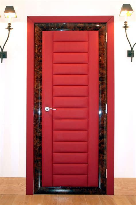 red doors bespoke internal leather doors  solid