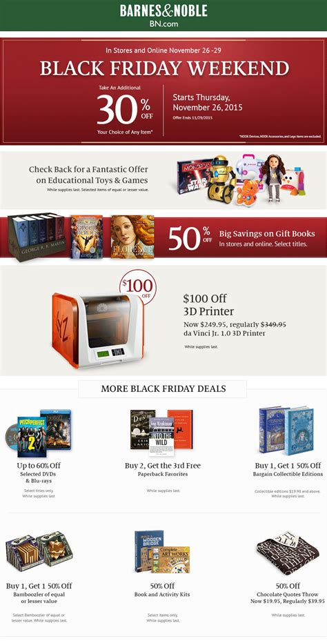 barnes and noble free friday barnes and noble 2015 black friday ad frugal buzz