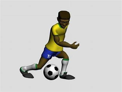Soccer Animated Player Football Moving Clipart 3d