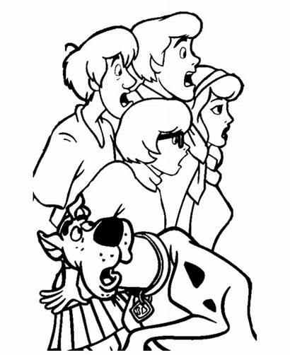 Coloring Scooby Doo Pages Printable Popular