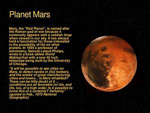 Who Named Mars the Planet - Pics about space