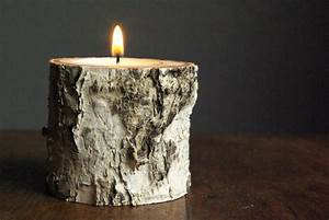 37 handmade gift ideas for dads many of which take 60 for Kitchen cabinets lowes with birch log candle holders