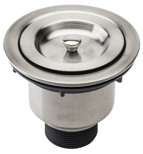 kitchen sink drain strainer fluxe 3 5 inch stainless steel deep waste basket kitchen
