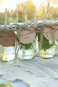 have guests put their names on the cards drink outta them With wedding favors mason jars