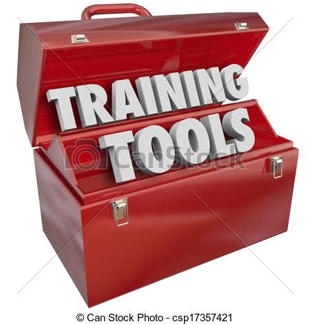 Training Tools Red Toolbox Learning New Success Skills Clip Art  Search Illustration