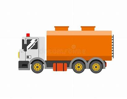 Truck Water Liquid Illustration Delivery Tanker Container