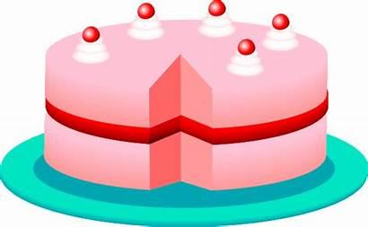 Cake Clip Pink Clipart Svg Clker Vector