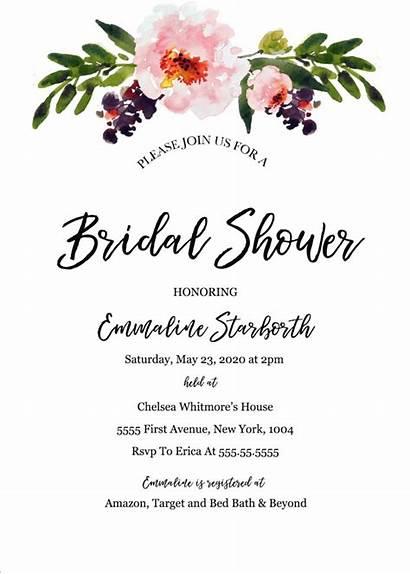 Invitation Templates Shower Template Invites Invitations Bridal