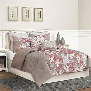 buy skye queen comforter set in taupe from bed bath beyond With bed bath and beyond queen mattress