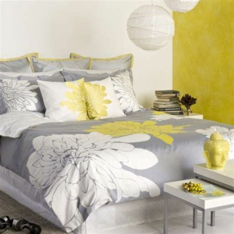 deco chambre gris deco gris blanc jaune