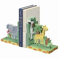 bookends for kids Kids Bookends - Sunny Safari   Red Wrappings