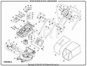 Homelite Ry40100 40 Volt Lawn Mower Parts Diagram For Figure A  Part 1