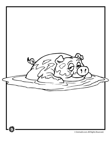 Pig in the Mud Coloring Page Woo Jr Kids Activities