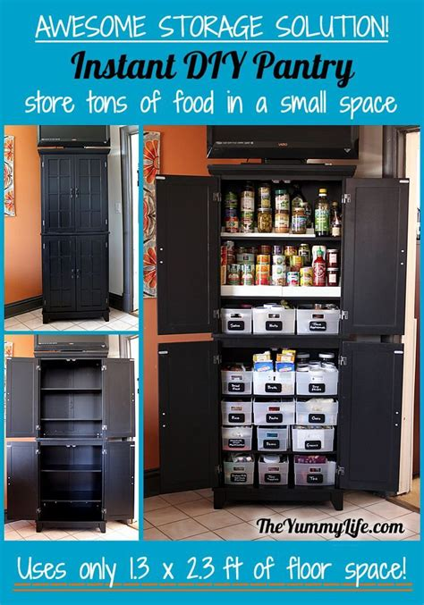 Pantry Cabinet Storage Solutions by Instant Diy Pantry Cabinet An Easy Kitchen Storage