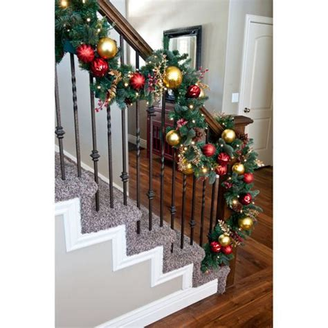 lighted garland for staircase 1000 images about staircase on 7022
