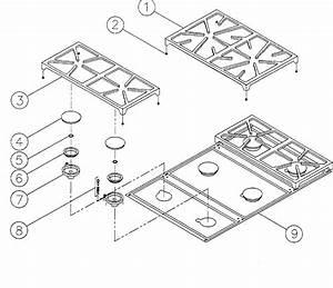 Dacor Model Esg366 Counter Unit  Gas Genuine Parts
