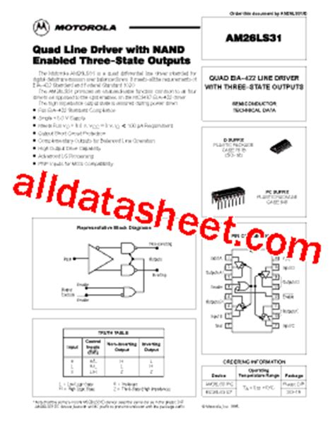 AM26LS31PC Datasheet(PDF) - Motorola, Inc