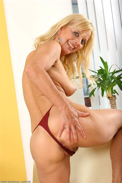 Sexy Blonde Cougar In Thong