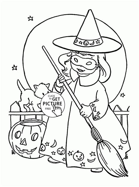cute  witch coloring pages  kids halloween printables  witch coloring pages