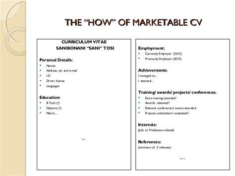 cv writing skills workshop slides 17 february 2015 2