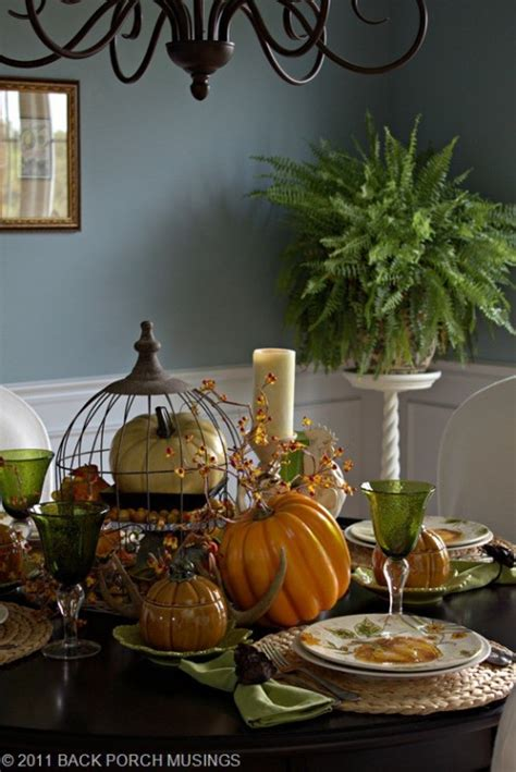 cool fall table decorating ideas shelterness