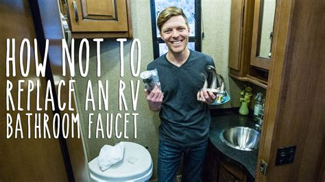 how to replace shower how not to replace an rv bathroom faucet