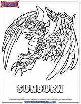 Coloring Skylanders Adventure Sunburn Colouring Hmcoloringpages sketch template