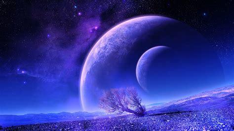 Full Moon Sky Wallpaper 梦幻空间星球风景桌面壁纸 风景壁纸 壁纸下载 美桌网