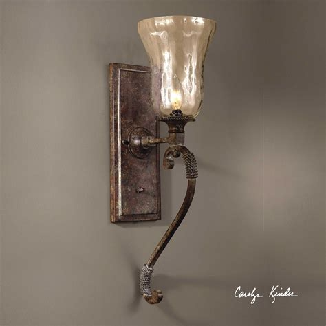 Uttermost Wall Sconces by Uttermost Galeana Glass Wall Sconces Ut22418