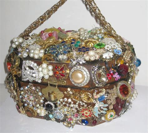 handcrafted costume jewelry wooden purse quirky finds