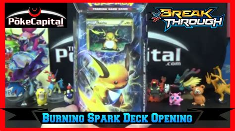 Theme Deck Opening by Cards Xy Breakthrough Burning Spark Raichu Theme