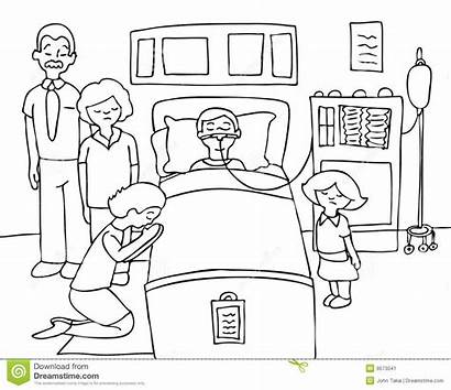 Coma Clipart Bed Child Sick Hospital Praying