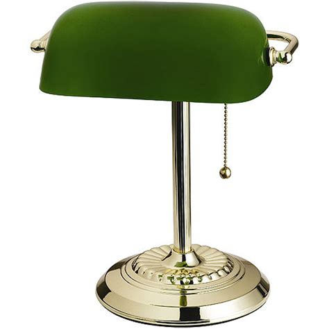 bankers l green shade green banker s l glass shade decor walmart
