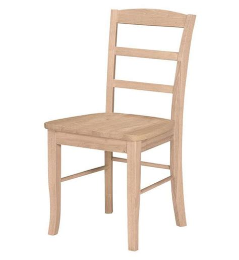 unfinished ladder back chairs with seats ladder back canvas collection unfinished chair ezekiel